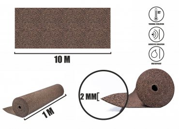 Rubbercork underlay 2mm