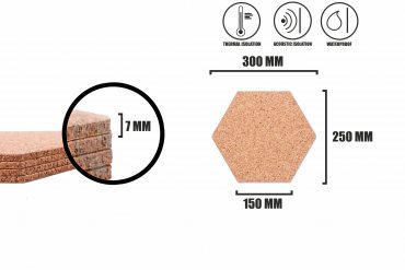 Corkboard Hexagon Natural