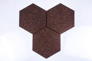 Corkboard Hexagon Negro