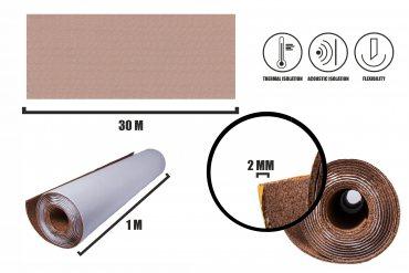 Self-adhesive cork roll 2mm (30m)