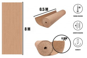 Cork roll 6mm MINI (8m)