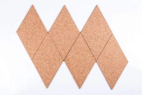 Cork Boards Diamond Natural