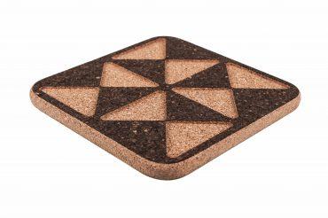 Rectangular cork coaster triangles