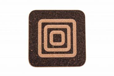 Rectangular cork coaster squares