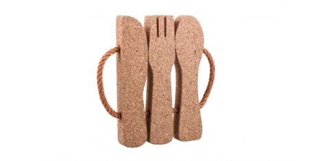 Natural Cork Pads Cutlery