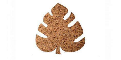 Cork pad Leaf 30 27cm decor- set 4 pcs
