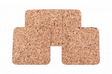 Cork pad Medium square 20cm decor- set 1