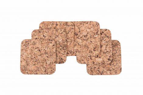Cork pad Small square decor-set. 6 pcs. 1