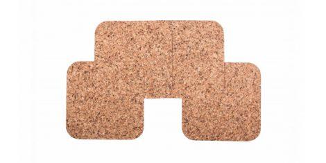 Cork pad big square 30cm decor-set 4 pcs.