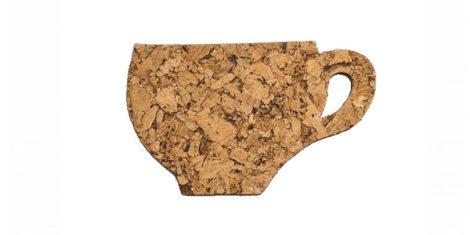 Cork pad decorative cup – set of 6