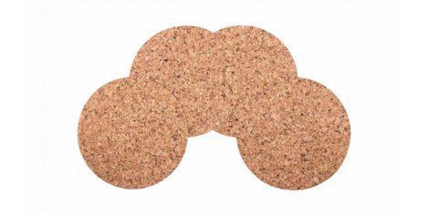 Cork placemat Large rectangle 40 30cm decor-set 4 pcs. 1