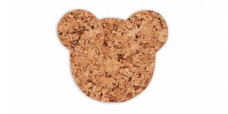Decorative cork pad bear small